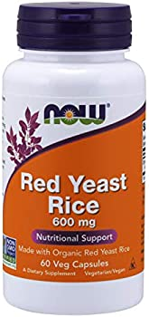 60-Count NOW Foods Red Yeast Rice 600 mg Veg Capsules