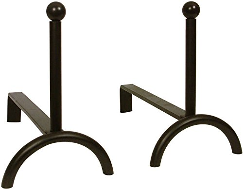 Aubry Gaspard 112SA - Lotto di 2 alari in ferro forgiato, 36 x 18 x 27 cm AG112SA