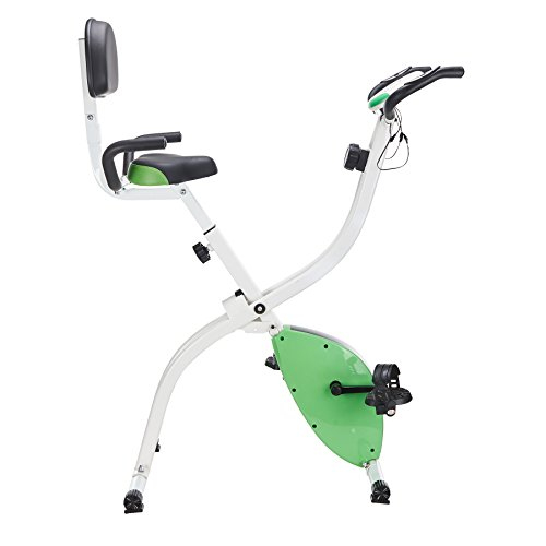 Pinty Folding Abdominal 8 Level Magnetic Upright Exercise Bike (Green)