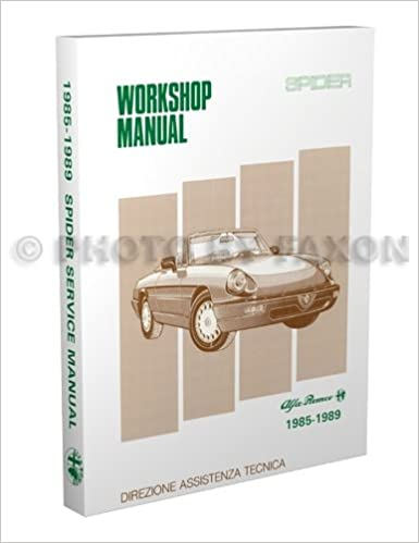 Alfa Romeo Spider Repair Shop Manual Reprint Alfa Romeo - Alfa romeo spider workshop manual