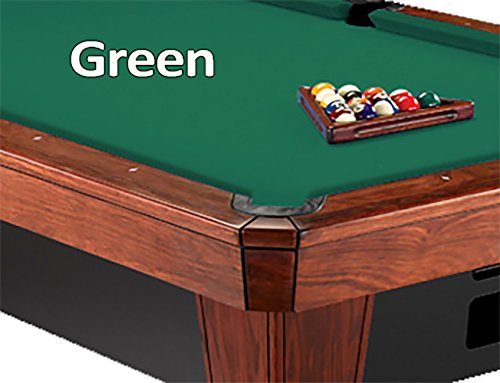 Worsted Standard Green Pool Table - Simonis Green Billiard Cloth- 8 Foot Cut