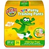 Earth's Best Tots, Chlorine-Free Potty Training Pants, Size 3T-4T, 104 Count