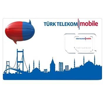 Turk Telekom O2 Turktelekom Sim Karte Prepaid Amazon De Elektronik