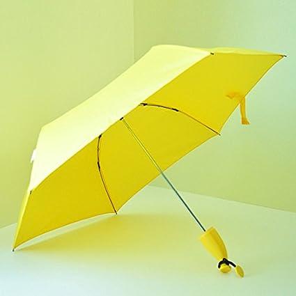 PANGUN Mini Historieta Creativa Al Aire Libre Novedad Plátano Fruta Amarilla Novedad Anti UV Plegable Sol