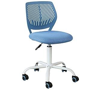 SoBuy® FST64-BL Chaise de Bureau Ergonomique Fauteuil Pivotant Chaise pour Ordinateur Hauteur Réglable (Bleu)