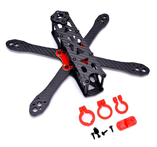 FPVDrone 225mm FPV Racing Drone Frame Stretch-X Carbon Fiber Quadcopter Frame Kit 4mm Arm+Power Distribution Board PDB+FPV Camera Lens Holder Set