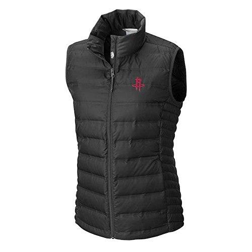名義で章祈るColumbia Columbia Houston Rockets Women's Black Lake 22 Down Full-Zip Vest アウターウェア ジャケット/アウター 【並行輸入品】