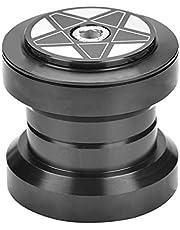Ruiqas Auriculares de Bicicleta de aleación de Aluminio para Tubo de Cabeza de Cuadro de Bicicleta de 34 mm Pieza de Repuesto de cojinete de Horquilla de dirección Recta de 28,6 mm (Negro)
