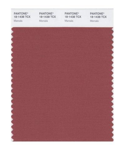 PANTONE SMART 18-1438X Color Swatch Card, Marsala by Pantone