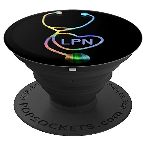 (LPN Rainbow Stethoscope - PopSockets Grip and Stand for Phones and Tablets)