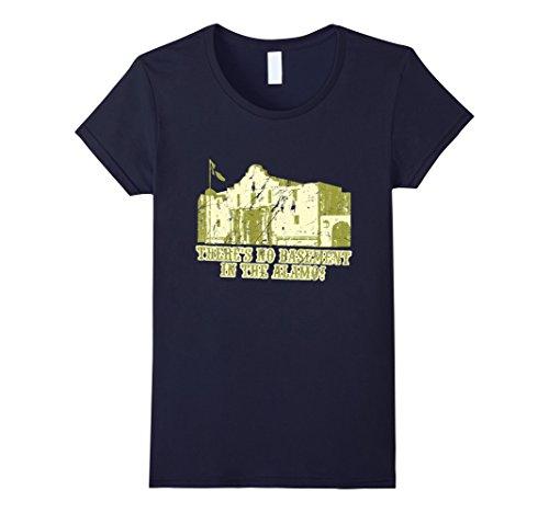womens-theres-no-basement-in-the-alamo-t-shirt-medium-navy