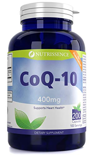 Nutrissence CoQ10 400mg Ubiquinone 100 Servings in 200 Capsules For Sale