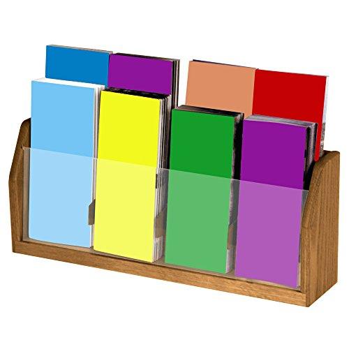 Wooden Mallet 8-Pocket Countertop Brochure Display, Medium - Oak Literature Stand Display
