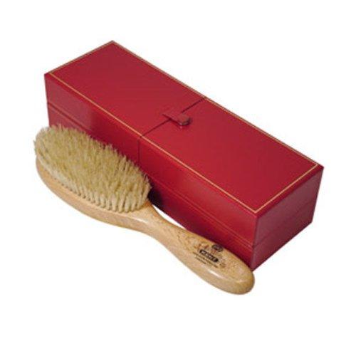 Kent Brushes Satinwood Bristle Hairbrush for Ladies Narrow Pure White