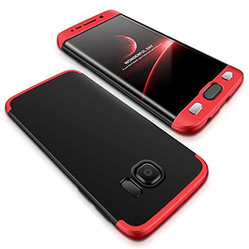 Samsung Galaxy S6 Edge Funda - BCIT Funda Samsung Galaxy S6 Edge 360 Grados Integral Para Ambas Caras + Cristal Templado,...