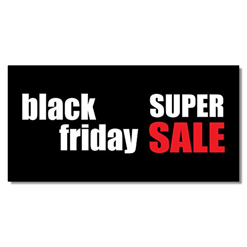 Black Friday Super Sale Business DECAL STICKER Retail Store Sign 9.5 x 24 inches by Fastasticdeals