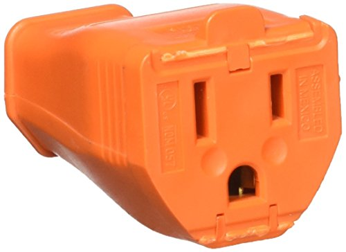 LEVITON 003-3W102-00R 3-Wire Grounding Cord Connector, - Of Outlets Stores Orange