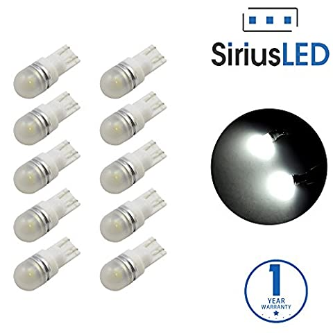 SiriusLED 5050 SMD Pack of 10 LED Interior Dome Map Lights White 6000K 194 T10 168 - 1991 Chrysler New Yorker