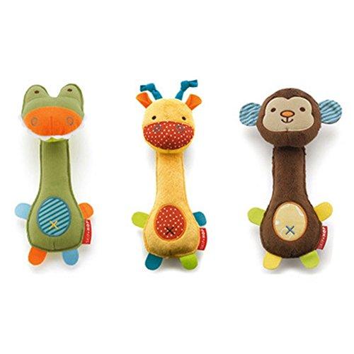 """Stock Show 3Pcs 8.7"""" Pet Squeaky Toys Pet Plush Cartoon Girr"""