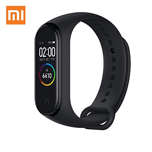 "Xiaomi Mi Band 4 0.95"" 3 Color AMOLED Screen Smart Bracelet Smartband Heart Rate Monitor Sleep Monitor Fitness Tracker Bluetooth Sport 5ATM Waterproof Smart Band Standard Version (Global Version)"