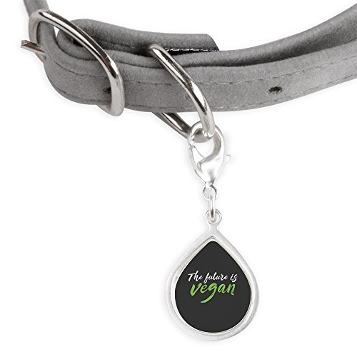 CafePress The Future Is Vegan - Small Teardrop Pet Tag by CafePress