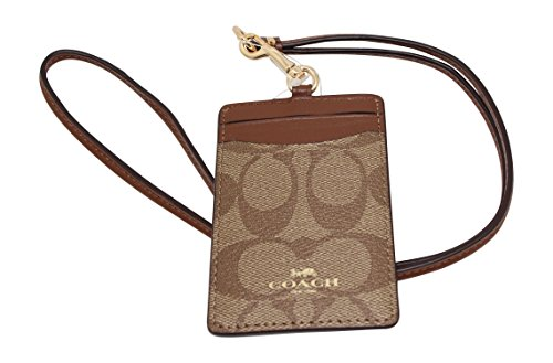 Coach Signature PVC Lanyard ID Holder (Card Holder Wristlet Coach)