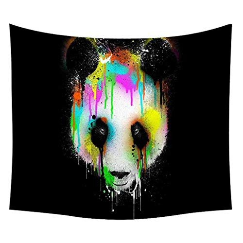 Redvive TopMeng Pet Panda Cartoon Tapestry Black and White Wall Hanging Home Decoration - Meadow Decor Loveseat