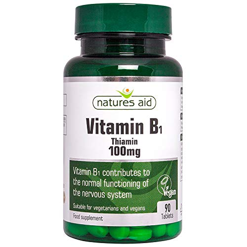 Natures Aid Vitamin B1 Thiamin Hydro 100mg 90 tablet