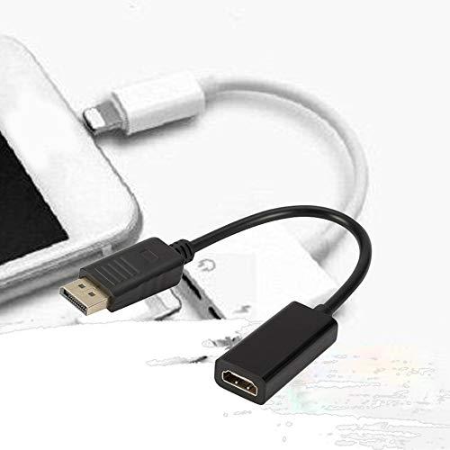 Mouchao Portable Taille Portable DP displayport m/âle au convertisseur de c/âble Femelle hdmi Noir