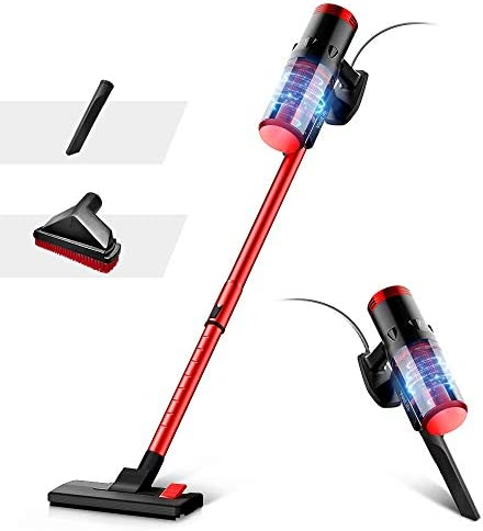 VacLife Stick Vacuum Cleaner - Corded 2 in 1, 4 Stages Filtration Powerful Vacuum Cleaner for Pet Hair with Washable HEPA Filter, Lightweight Vacuum with 3 Practical Tools for Hard Floor(VL712)