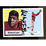 77552c50f Dick Night Train Lane Signed 1994 Topps 1957 Archives Football Card  Autographed.