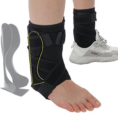 Rigid Ankle Brace Stabilizer,Medical Grade&FDA Approved Ankle Support w/Rigid Stay,Nonslip Strap Compression Ankle Wrap Protection for Ankle Pain Relief,Injury Prevent - R/L Foot,Men or - Support Rigid
