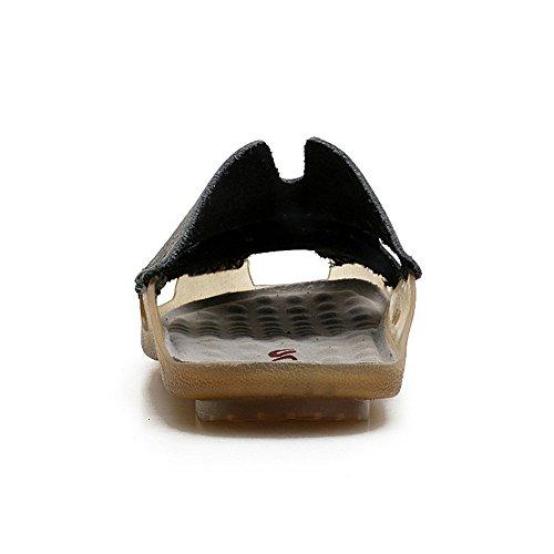 a Tempo Testa Uomo cm in Estivo di Nero Il da Cavallo Baotou Scarpe Pantofole Scarpe Libero Testa per 27 Spiaggia Vacchetta da da 24 di 4xP0q1U