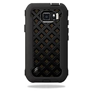 MightySkins Protective Vinyl Skin Decal for OtterBox Defender Galaxy S6 Active Case wrap cover sticker skins Black Wall