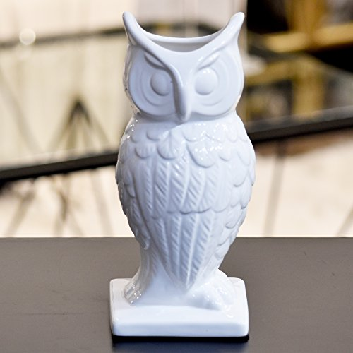 Urban Trends 70463 Decorative Ceramic Owl, Large, White