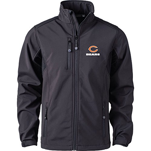 Dunbrooke Apparel NFL Chicago Bears Men's Softshell Jacket, X-Large, Black Chicago Bears Jacket
