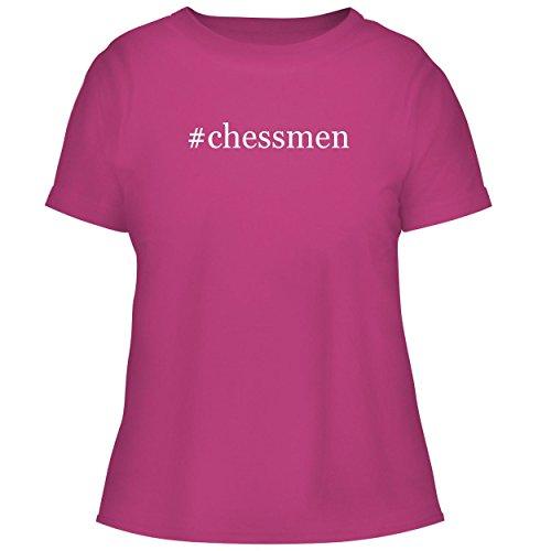 (#Chessmen - Cute Women's Graphic Tee, Fuchsia, XX-Large)
