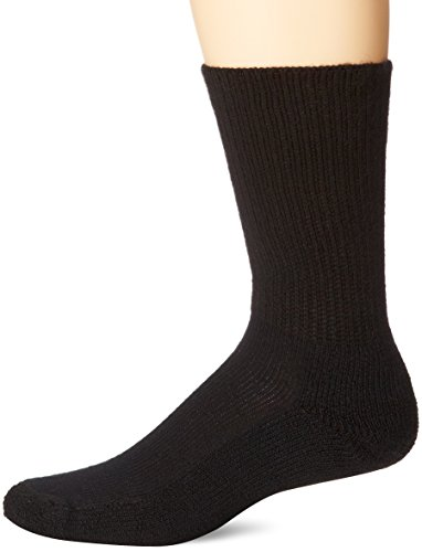 (Thorlos Unisex WGX Work Padded Crew Sock, BLack, Medium)