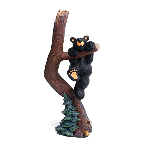 DEMDACO Hang in There 2 Black Bear 11 x 5 Hand-cast Resin Figurine Sculpture -