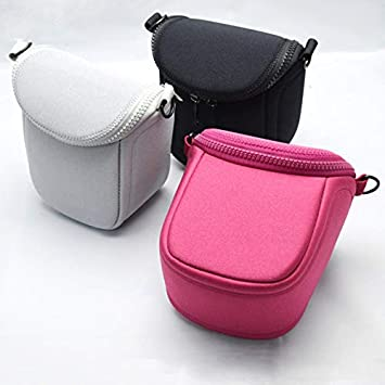 Pinyu Camera Cover Case Bag for Canon EOS M3 M M2 M3 M6 M M10 SX520 SX400 SX410 SX420is SX500 SX510 SX530 SX540HS with Shoulder Strap Color : Black