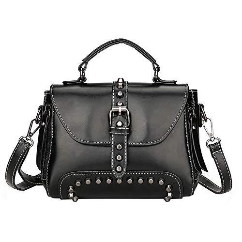 Sintética preppy Negro PN 34F Bags Mujer de Piel estilo Mounter TI0Znqw