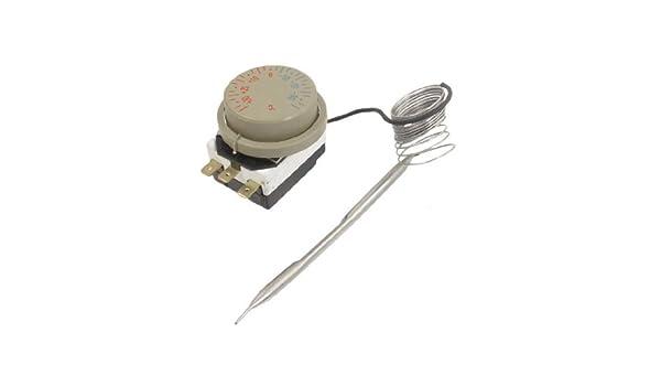 DealMux a12073100ux0260 1NC 1NO CA 250 / 380V 16 Amp, -30-30C Térmica Interruptor capilar termostato: Amazon.com: Industrial & Scientific