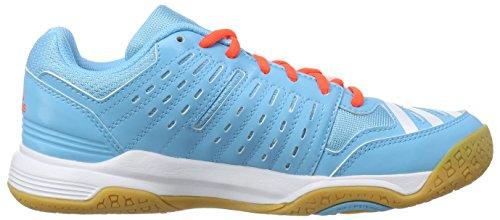 adidas Essence 12 - zapatillas de balonmano de material sintético mujer Azul / Blanco / Naranja