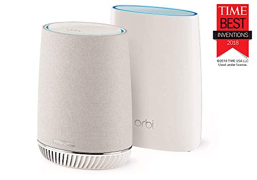 NETGEAR Orbi Voice Whole Home Mesh WiFi System - fastest WiFi router and satellite extender with Amazon Alexa and Harman Kardon speaker built in