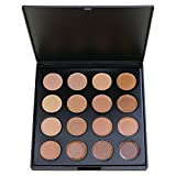 Face Base Foundation Palette, Vodisa 16 Color Natural Contour Highlighter Powder Kit Makeup Set, Cheek Foundation Pressed Powder Beauty Cosmetics Make Up Bronze Contouring and Highlighting Pallet