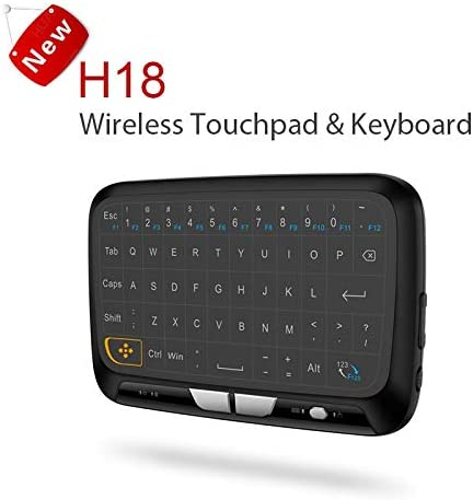 Color: blacklight Calvas H18 plus blacklight Keyboard 2.4G Wireless Touchpad Keyboard air mouse With Touchpad Mouse for Smart TV//Android Box//Computer