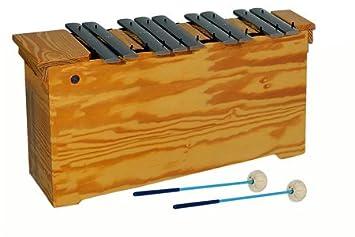 Metalófono bajo, parte cromática Do# - Sol1#. Caja de resonancia de madera