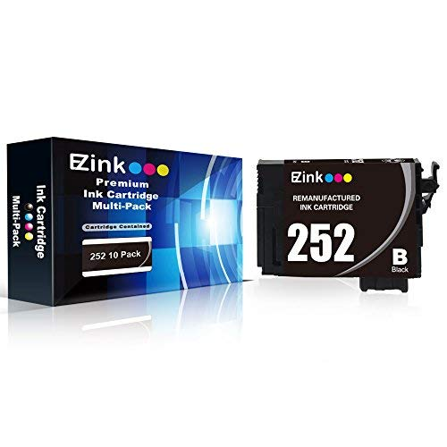 E-Z Ink (TM) Remanufactured Ink Cartridge Replacement for Epson 252 T252 T252120 to use with Workforce WF-3640 WF-3630 WF-3620 WF-7610 WF-7620 WF-7110 (6 Black, 3 Cyan, 3 Magenta, 3 Yellow, 15 Pack) by E-Z Ink (Image #1)