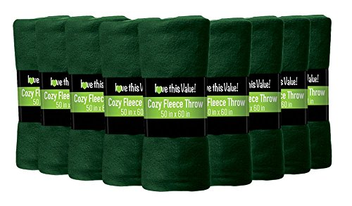 (Imperial Home 24 Pack Wholesale Soft Cozy Fleece Blankets - 50