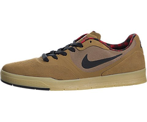 NIKE Mens Paul Rodriguez 9 CS Ale Brown/Black/Gym red Skateboarding Shoes 8 D(M) US Ale Brown/Black/Gym Red ()